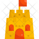 Sand Castle Becach Toy Icon