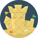 Sand Castle Holiday Icon