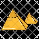 Sand Pyramid Egypt Pyramid Desert Monument Icon