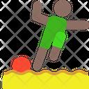 Sand Soccer Soccer Soccer Ball Icon