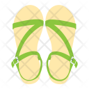 Sandals Footwear Slippers Icon
