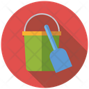 Sandbucket Shovel Beach Toys Icon