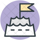 Sandcastle Holiday Concept Icon