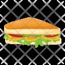 Sandwich Snacks Toast Icon
