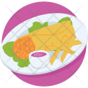 Sandwich Baked Dish Icon