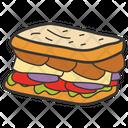Sandwich Breakfast Fast Food Icon