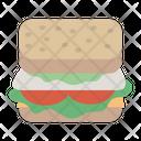 Bread Veg Sandwich Fastfood Icon