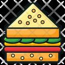 Burger Sandwich Junk Food Icon