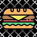 Sandwich Bread Burger Icon