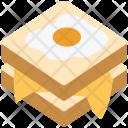 Sandwich Egg Breakfast Icon
