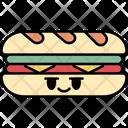 Sandwich Fast Food Breakfast Icon