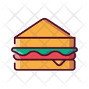 Fast Food Sandwich Meal Icon