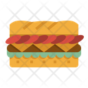 Sandwiches Baguette Brunch Icon