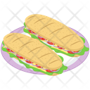 Sandwiches Platter Vector Icon