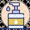 Antibacterial Liquid Sanitizer Disinfecting Lotion Icon