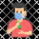 Sanitizing Hand Icon