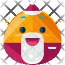 Santa Emoji Face Icon