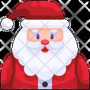 Santa Santa Face Icon