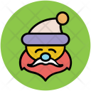 Santa Face Claus Icon