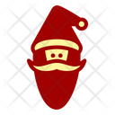 Santa Claus Beard Christmas Icon