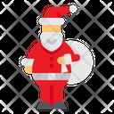 Santa Claus Present Xmas Icon