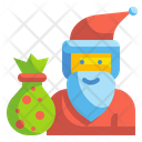 Santa Claus Doll Xmas Icon