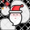 Santa Claus Cap Character Icon