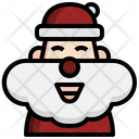 Santa Claus New Year Christmas Icon