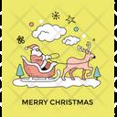 Santa Claus Ride Icon