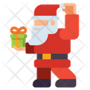 Santa Clause Christmas Holiday Icon
