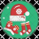 Socks Footwear Christmas Icon