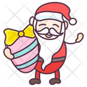 Santa Gift Santa Egg Gift Painted Egg Icon