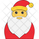 Santa Face Santa Claus Christmas Icon