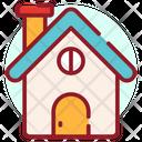 Santa House Santa Home Residence Icon