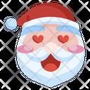 Santa Love Love Christmas Icon
