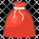 Santa Bag Gift Pouch Xmas Bag Icon