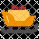 Sleigh Christmas Snow Santa Gift Icon
