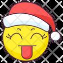 Santa Struck Emoticon Icon