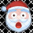 Santa Surprised Santa Claus Emoticons Icon