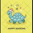 Santa Turtle Icon