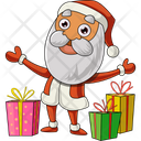 Santa With Gifts Icon