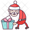 Santa with Present Icon