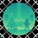 Santa Claus Living Icon