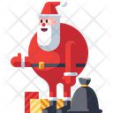 Santaclaus with gifts Icon