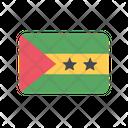 Sao Tome And Principe Flag Country Icon