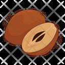 Sapodilla Fruit Fresh Icon