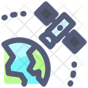 Satellite Orbit Space Icon