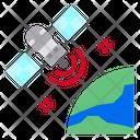 Communication Satellite World Icon
