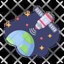 Satellite Earth Galaxy Icon