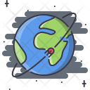 Satellite Earth Orbit Icon